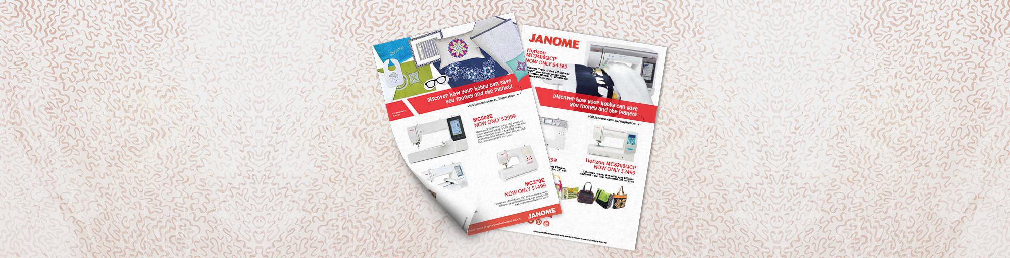 Janome Instore Mailer FebMar Blog Banner
